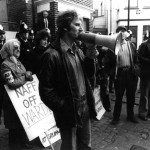 Des Warren at Grunwick July 1977