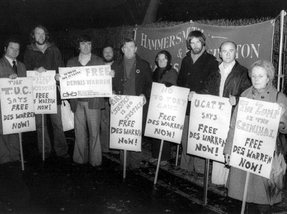 Jenkins House picket, Shrewsbury, November 1975