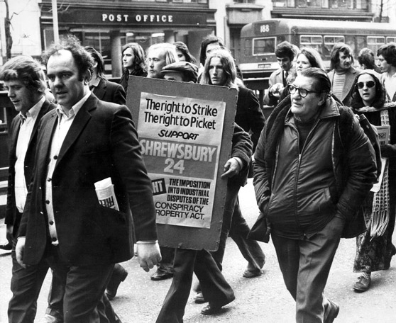 Shrewsbury London march February 1st 1974.