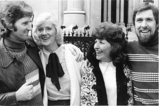 Des Warren and Ricky Tomlinson, June 4 1974