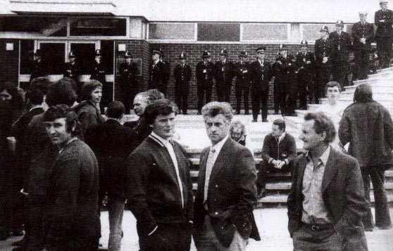 Arrested, charged and put on trial in Shrewsbury Crown Court on 3rd October 1973