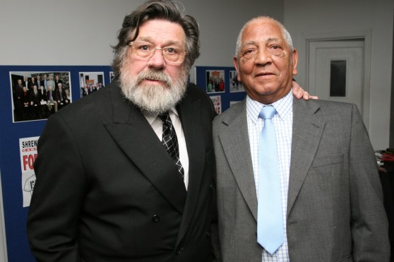 Fellow pickets Ricky Tomlinson and Michael Pierce