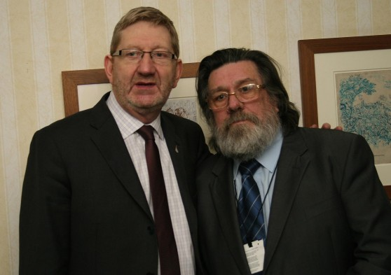 Len McCluskey and Ricky Tomlinson