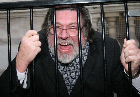 Ricky Tomlinson finds himself behind bars again almost 40 years to the day on which he was unjustly imprisoned.