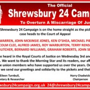 Shrewsbury pickets' case in Court of Appeal