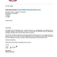 Letter of congratulations FBU