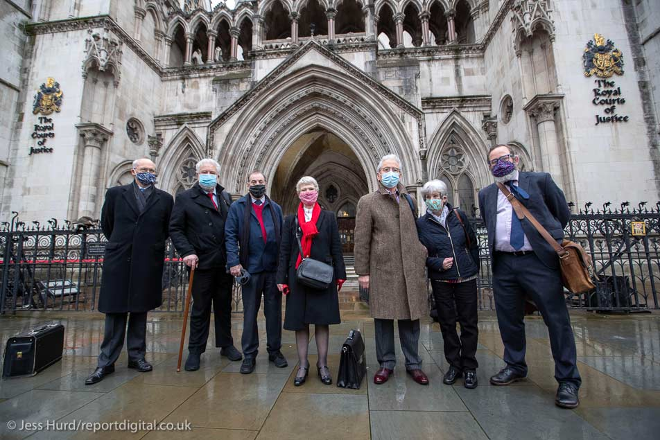 The Shrewsbury Pickets outside the Court of Appeal Feb 2021